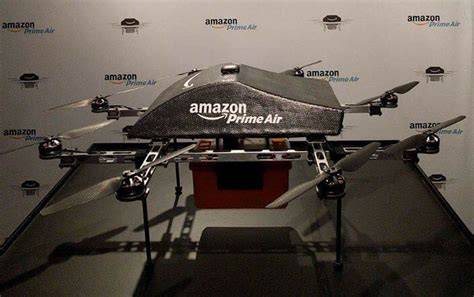 amazon drone amazon shows off new version of delivery drone charged