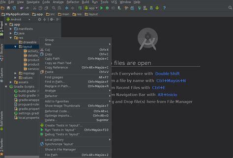 layout view en espanol android 191 c 243 mo crear subcarpetas dentro de directorio res