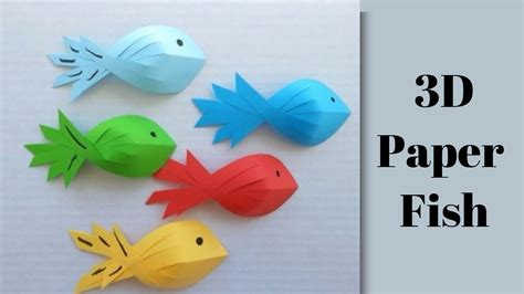 How To Make A Fish Out Of A Paper Plate - ideas how to make 3d fish out of paper wine bottle