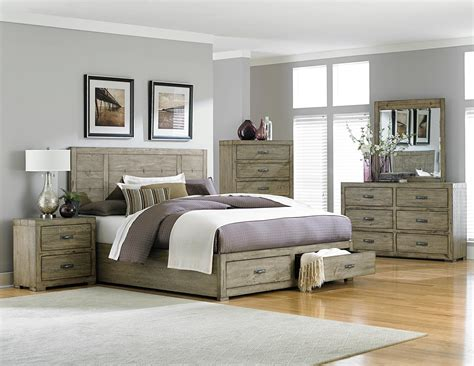 driftwood bedroom furniture homelegance abbott platform storage bedroom set