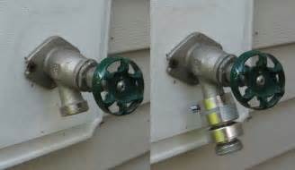 can t drain water from water pipe to outside faucet