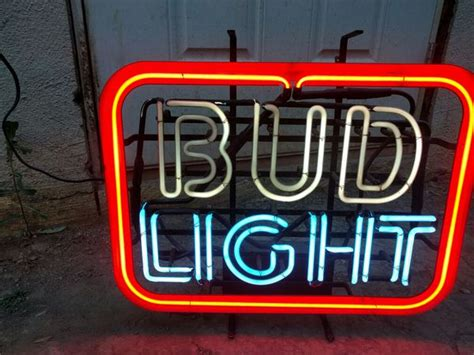 budweiser light up sign vintage bud light neon sign collectibles in cbell ca