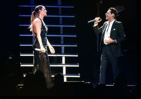 J Lo Marc Ew by J Lo Surprises Marc Anthony Live Onstage Extratv