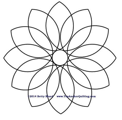 bettdecke zeichnung dahlia quilt templates patterns topanchor quilting tools