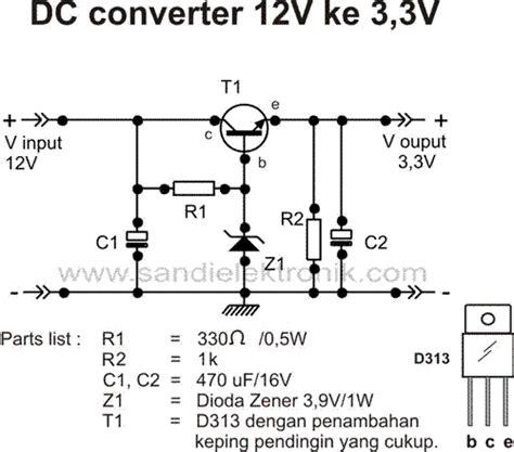 dioda zener 3v konverter dc 12v ke tegangan yang lebih rendah sandi elektronik