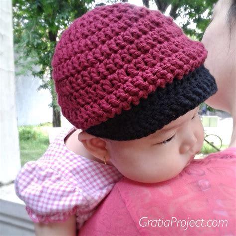 baby baseball hat crochet pattern gratia project