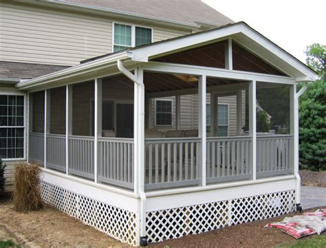screened porch porches and decks arlington fence and deck company