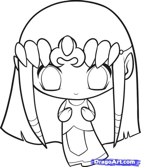 how to draw chibi zelda step by step chibis draw chibi
