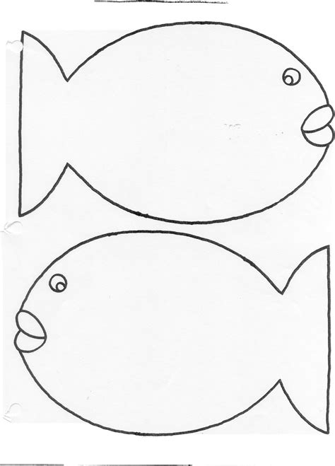cutout template rainbow fish template coloring home