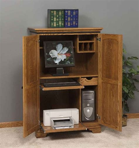cherry wood computer armoire use computer desk armoire all home ideas and decor