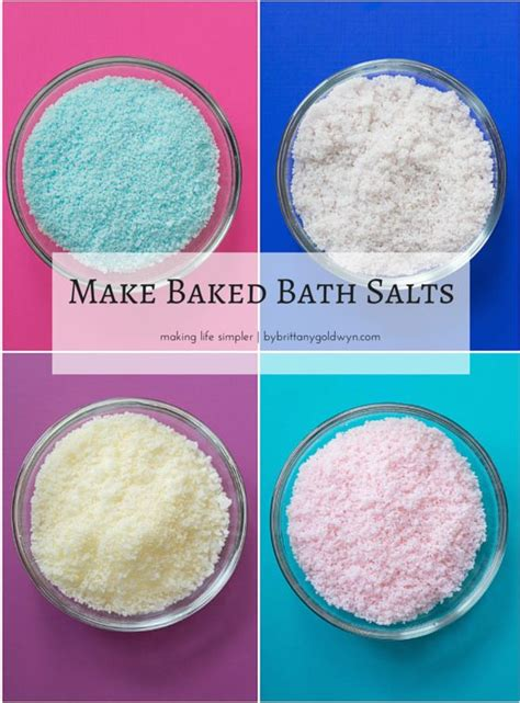 how to your to stay outside learn how to bake your bath salts to ensure they stay fluffy and fresh and