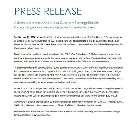 press release templates free press release template sunnyw34ther org
