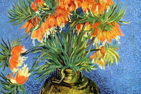 vans con i fiori fritillaria imperiale in un vaso di rame quadro di gogh