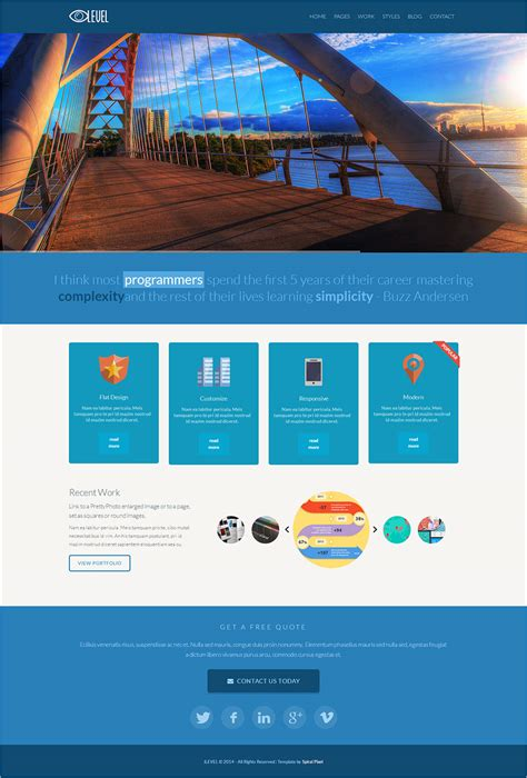 free flat design templates 20 best flat design website templates free premium