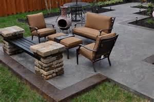 Cement Patio Furniture by Stamped Concrete Patio Designs Concrete Flooring Amusing
