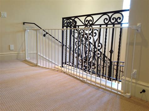 banister to banister baby gate metal baby gate for stairs with banister best baby gates
