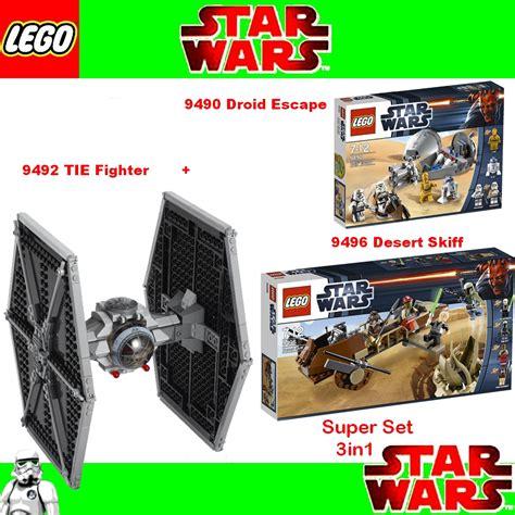 lego wars set 9492 tie fighte 9496 desert skiff 9490
