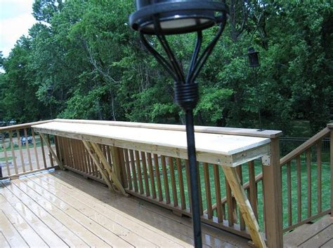deck railing bar top 25 best ideas about deck table on pinterest diy outdoor