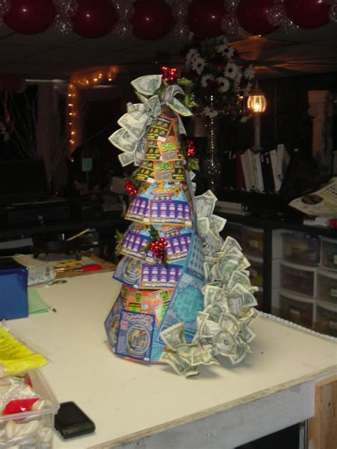 christmas trees decorated with scratch tickets 32 best lottery money bouquets images on money bouquet bouquets and nosegay
