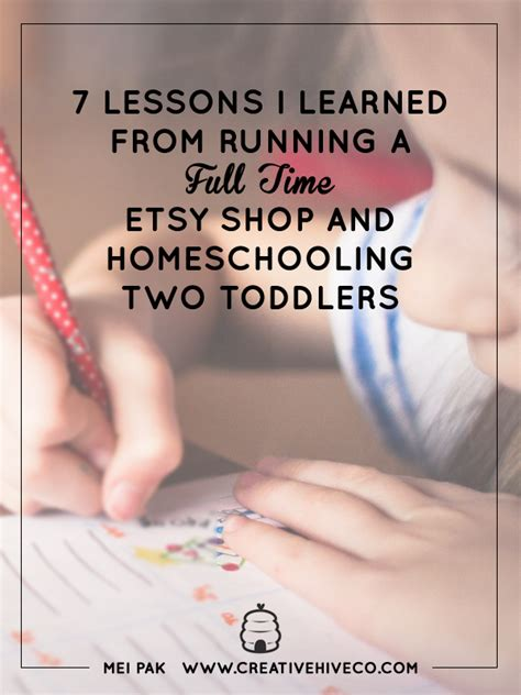 7 Lessons To Learn From Losing Your by 7 Lessons I Learned From Running A Time Etsy Shop And