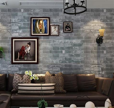 brick wallpaper grey living room aliexpress com buy wallpaper brick wall background wall