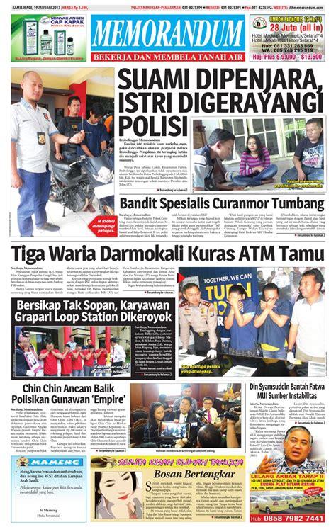 memorandum edisi 19 januari 2017 by memorandum issuu