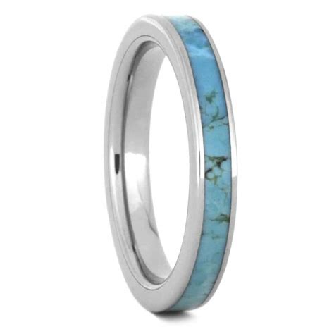 Turquoise Wedding Band Womens turquoise wedding band for made in titanium 3505
