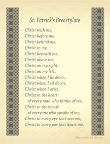 st s breastplate printables of st s prayer