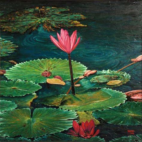 Lukisan Teratai 50 Contoh Gambar Lukisan Bunga Sederhana Yang Indah Di