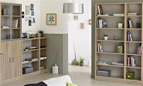 bücherregal mit leiter weiß regal dekor wohnzimmer