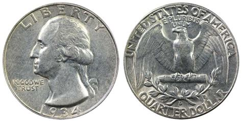 1934 d washington quarters silver composition value and prices