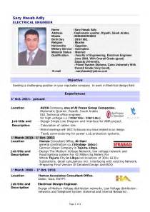 Best Resume Format For Electrical Engineers Free Download by Design Electrical Engineer Cv