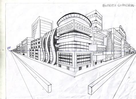 Drawing 2 Point Perspective Buildings by Foundation Two Point Perspective