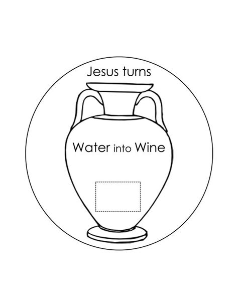 jesus turns water into wine coloring page sketch coloring page