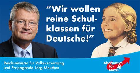 Plakat Heil Schulz by Lesbische Afd Politikerin Will Homo Ehe Von Fl 252 Chtlingen