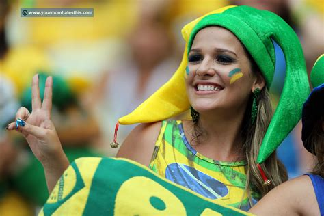 beautiful fans of brazil world cup 2014