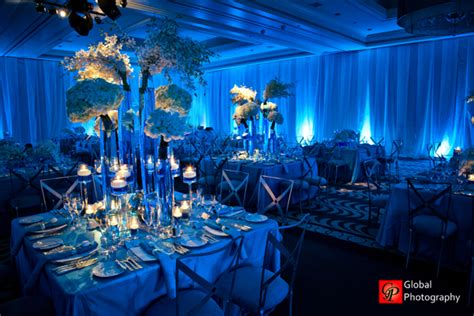 theme wedding reception decor blue wave theme indian wedding reception maharani weddings