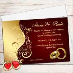 10 personalised ruby wedding anniversary invitations n6