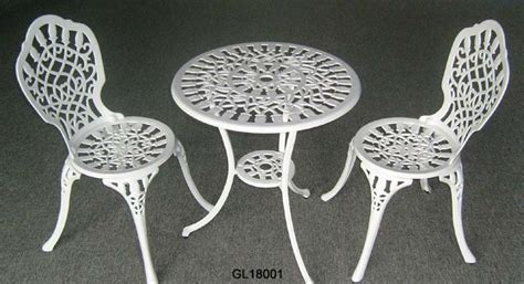 white wrought iron bistro table and chairs small bistro table and chairs wrought iron white cast