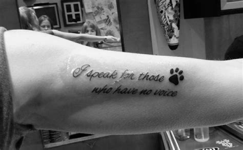 animal tattoo sayings animal rights quotes tattoos quotesgram