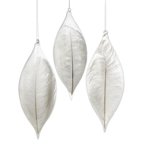 i m dreaming of a white christmas white feather glass
