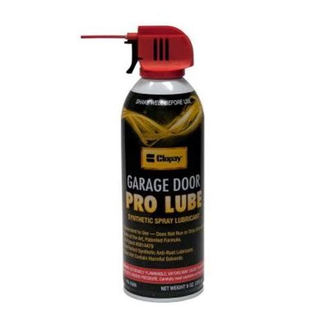 Lubricant For Garage Door Clopay Synthetic Pro Lube For Garage Doors 4128043 The Home Depot