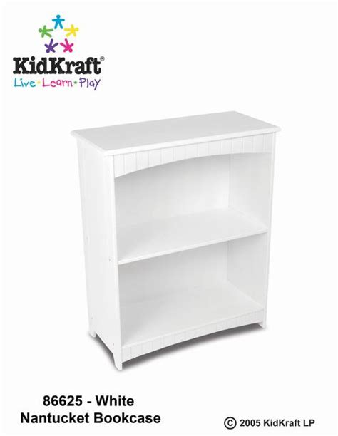 kidkraft nantucket white 2 shelf bookcase kidkraft nantucket 2 shelf bookcase