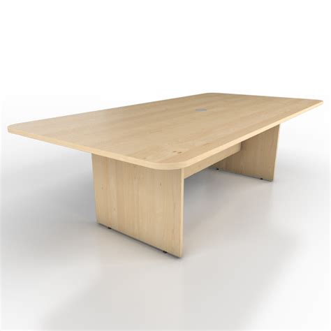 Large Meeting Table Large Meeting Table 2400mm X 1200mm Maple Three Counties Office Furniture
