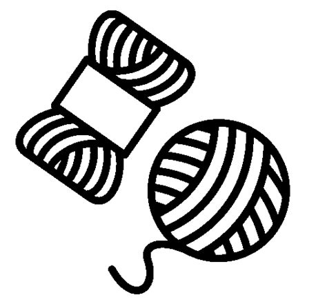 free coloring pages of ball of yarn