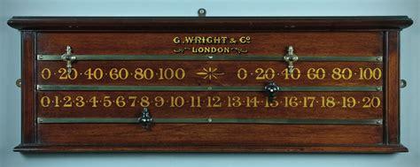 snooker scoreboard cue rack c 1905 286388