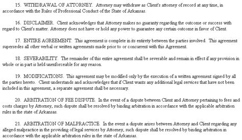 example document for legal services fee agreement
