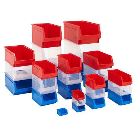 Shelf Containers by Plastic Parts Bins Shelf Stacking Storage Garage Box