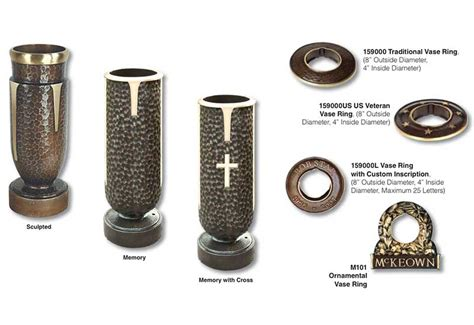 Vases For Cemetery Monuments by Memorial Vases Cemetery Monuments