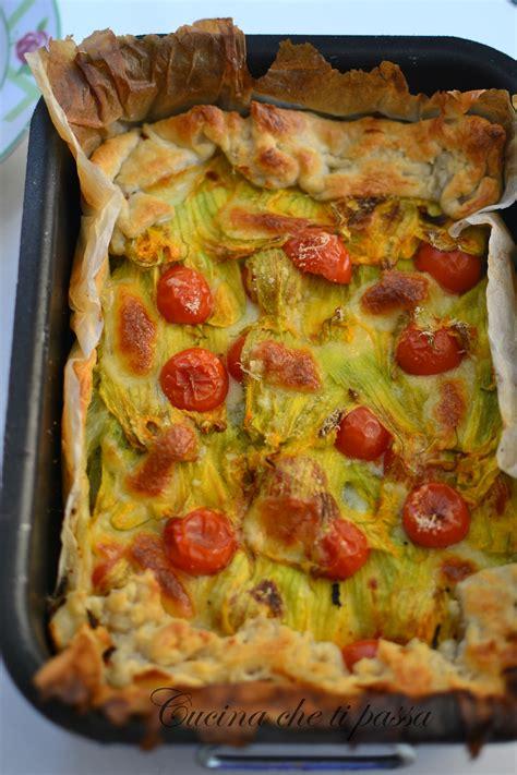 ricette con fiori di zucca e zucchine torta salata con i fiori di zucchina cucina ti passa